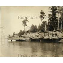 "1926 Press Photo ""Drill Point"", Apostle Islands, Lake Superior - mjx04224"