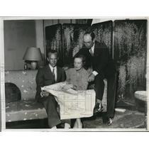 1932 Press Photo Fliers Roger Q.Williams and Elvie Kelep with Estonian Consul