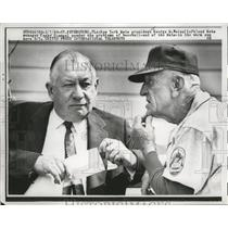 1963 Press Photo Mets president George M. Weiss with manager Casey Stengel