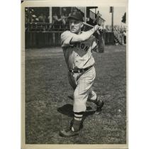 1939 Press Photo Boston Red Sox outfielder Fabian Gaffke in spring training