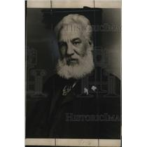 1937 Press Photo Alexander Graham Bell made the first ever wax recording.