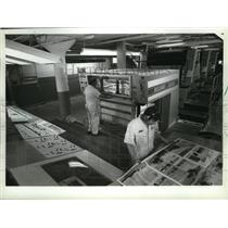 1983 Press Photo New Press at Wetzel Brothers Incorporated in Milwaukee