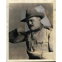 """1927 Press Photo Actor Frank Hopper as Theodore Roosevelt in """"The Rough Riders"""""""