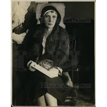 1930 Press Photo Mrs Roy D'Arcy Wife of Famous Actor & Stage Villain