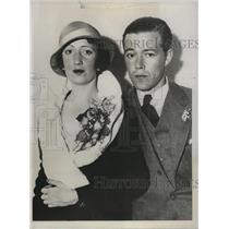 1932 Press Photo Dorothy Graham and Stephen Semkhovitch Married in Hollywood