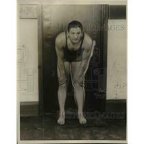 1923 Press Photo Swimmer George Kojac at a pool - net16786