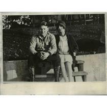 1930 Press Photo Freddie Lindstrom of NY Giants & fiancee Irene Kiedaisch