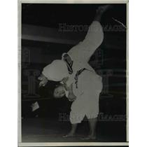 1936 Press Photo Japanese women wrestlers Maksano Norit & Reiko Akutagama