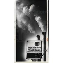 1979 Press Photo Sign at Second and Wall Reflects Temperature in Spokane