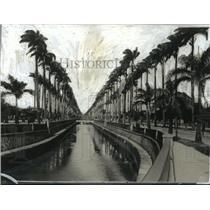 1928 Press Photo View of the Canal Do Mangue, Rio de Janeiro, Brazil - mjx06542