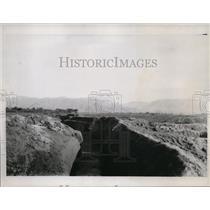 1937 Press Photo Peiping Chinese tank trap built near Peiping - nera03013