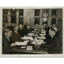 1934 Press Photo Carolian Institute Nobel Prize Council, Stockholm Sweden