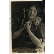 1919 Press Photo Ms.Manuela Lloveras,third in the Argentine Ambassador Family