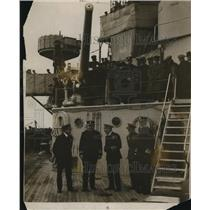 1918 Press Photo King & Prince of Wales Aboard U.S. Battleship New York