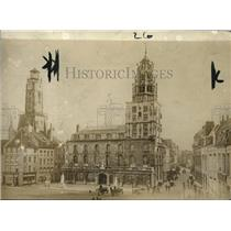 1918 Press Photo View of the Calais, main square in Paris France - ney14462