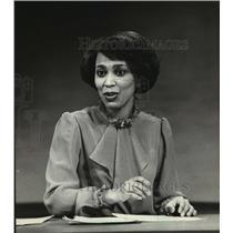 1981 Press Photo Phyllis Watson, TV 6 newscaster - mja25412