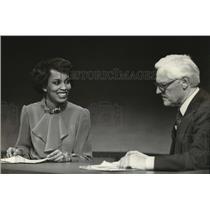 1981 Press Photo Phyllis Watson and Carl Zimmerman of Channel 6 - mja25638