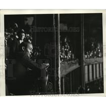 1935 Press Photo Sportscaster Ted Husing - ney17562