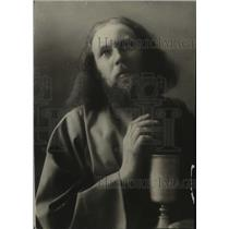 1921 Press Photo Actor Anton Lang as Christas in Passion Play - mjx09936