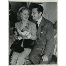 1938 Press Photo Tony Martin and Alice Faye going to Hawaii for honeymoon