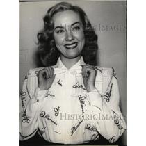1946 Press Photo Actress Audrey Totter in Illinois Shirt - ney15383