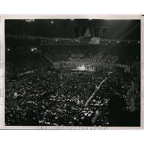 1938 Press Photo Communist rally at NYC Madison Square Garden - net17601