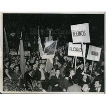 1938 Press Photo Communists rally at Madison Square Garden in NYC - net17617