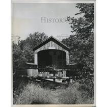 1951 Press Photo Comstock Bridge on Salmon River at East Hampton, Connecticut
