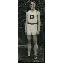 1920 Press Photo Creed Haymond Penn University track captain was with Utah team