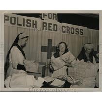1939 Press Photo Mrs George McCormick, Marjorie Jones & Mrs Morgan of Red Cross