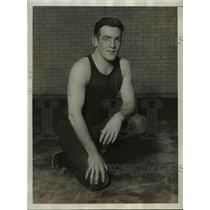 1930 Press Photo Coach William Heilman for U of Pennsylvania wrestling