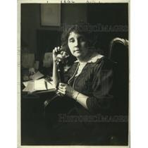 1918 Press Photo Winifred Holt, Founder New York Association for the Blind