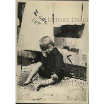 1920 Press Photo Montenegro Boy Brought to Red Cross Hospital - ney17847