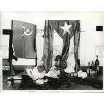 1964 Press Photo Training Room for Pro-Fidel Castro Group, Argentina - ney18646