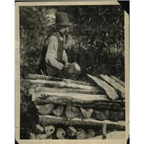 1922 Press Photo Millionair Club Wood Yard - ney15538