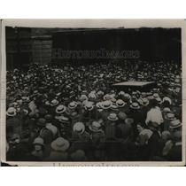 1921 Press Photo Paris Gave Welcome to Carpertier A Hero at St Lazare Station