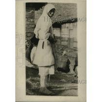1921 Press Photo Montenegro Woman at Red Cross Hospital in Cettinje - ney17850