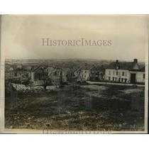 1927 Press Photo Villagers of Vaux France Rebuilt Their Homes Destroyed in War