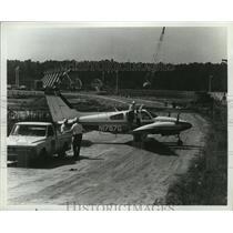 1967 Press Photo Beech Aircraft D55 Baron Plane - ney16983