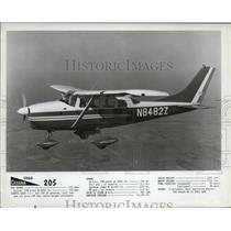 1954 Press Photo Cessna 205 Plane - ney17440