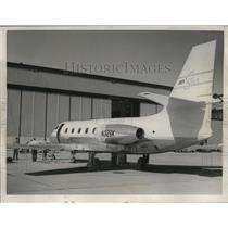 1958 Press Photo Lockheed N239K Jet Star Plane - ney18580