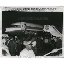 1959 Press Photo Pan American Airway Jet Airliner Plane at Idlewild Airport