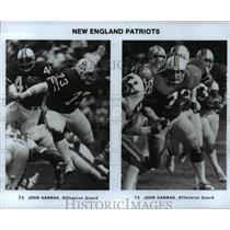 Press Photo Two Action Views of John Hannah of New England Patriots - cvb69334