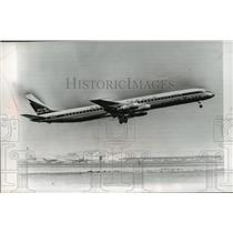 1966 Press Photo Douglas DC-8 Super 61 on its maiden flight - mja01467