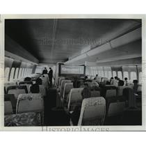 1968 Press Photo Economy class sections of the Pan American 747 super-jet