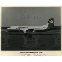 1984 Press Photo Simmons Airlines 56 Passenger YS-11 - mja01510