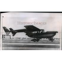 1961 Press Photo The Skymaster built by Cessna Aircraft Co on test flight