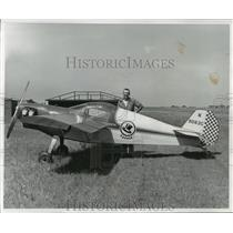 1957 Press Photo Experimental Topper airplane built by Mert Taylo - mja04235