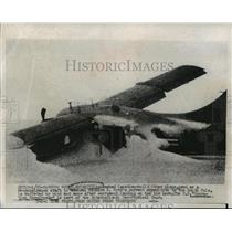 1956 Press Photo Crashed Canadian-built Otter plane, used as reconnaisance craft