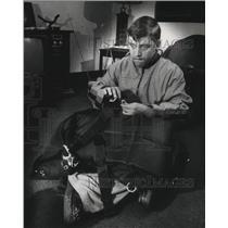 1978 Press Photo Michael Welch, blind parachuter - mja21871